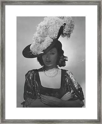 Portrait Of Kathleen Winsor Framed Print