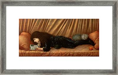 Portrait Of Katie Lewis Framed Print by Sir Edward Coley Burne-Jones