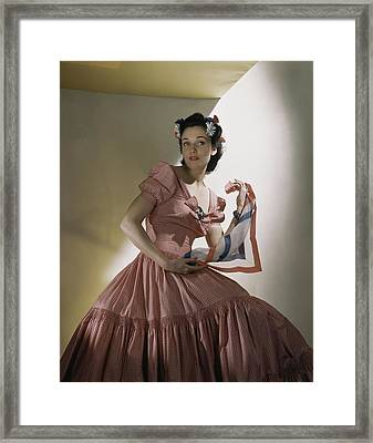 Portrait Of Kay Herman Framed Print by Horst P. Horst