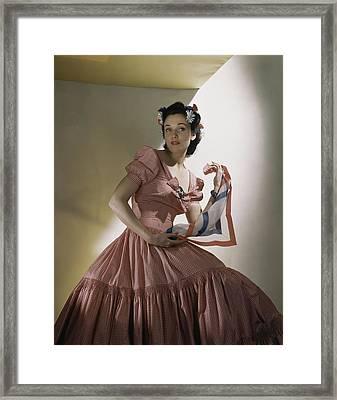 Portrait Of Kay Herman Framed Print by Horst P. Horst