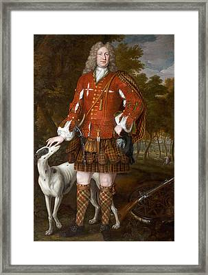 Portrait Of Kenneth Sutherland, 3rd Lord Duffus D.1732 Framed Print by Richard Waitt