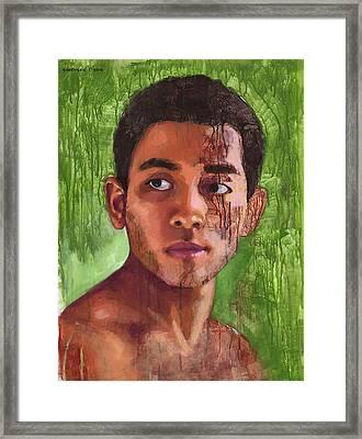 Portrait Of Khanh Framed Print by Douglas Simonson