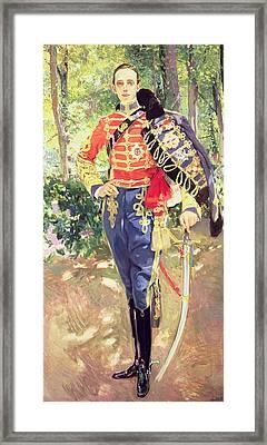 Portrait Of King Alfonso Xiii  Framed Print by Joaquin Sorolla y Bastida