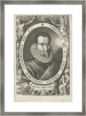 Portrait Of King Christian Iv Of Denmark And Norway Framed Print