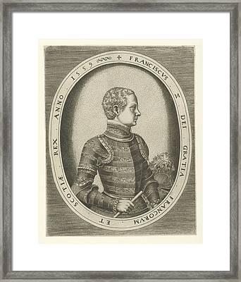 Portrait Of King Francis II Of France, Frans Huys Framed Print