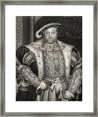 Portrait Of King Henry Viii  Framed Print