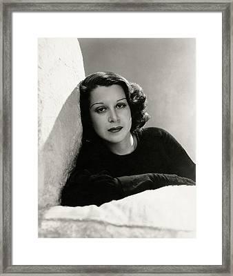 Portrait Of Kitty Carlisle Hart Framed Print