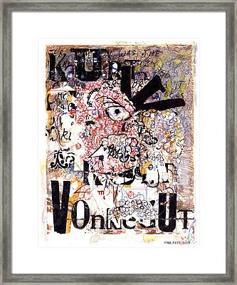Portrait Of Kurt Vonnegut Framed Print