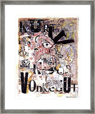 Portrait Of Kurt Vonnegut Framed Print by Karl Frey