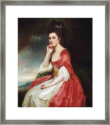 Portrait Of Lady Grantham Framed Print by George Romney