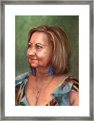 Portrait Of Lana Framed Print by Terri  Meyer