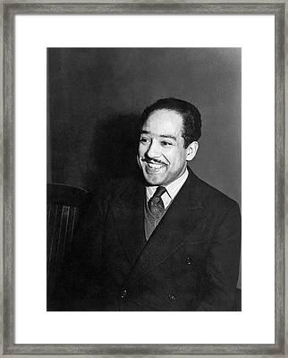 Portrait Of Langston Hughes Framed Print by Jack Delano