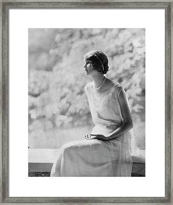 Portrait Of Laura Biddle Framed Print