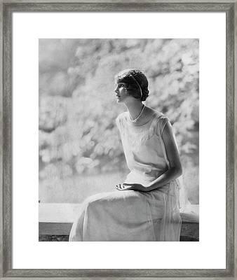 Portrait Of Laura Biddle Framed Print