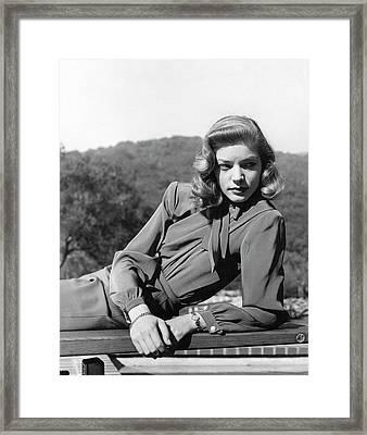 Portrait Of Lauren Bacall Framed Print by Crane Ralph