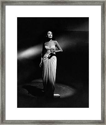 Portrait Of Lena Horne Framed Print by John Rawlings