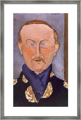 Portrait Of Leon Bakst Framed Print by Amedeo Modigliani