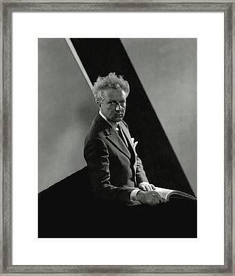 Portrait Of Leopold Stokowski Framed Print
