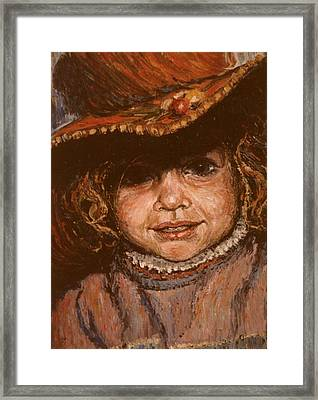 Portrait Of Leticia Framed Print