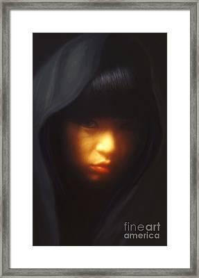 Portrait Of Li Framed Print by Jeff Breiman