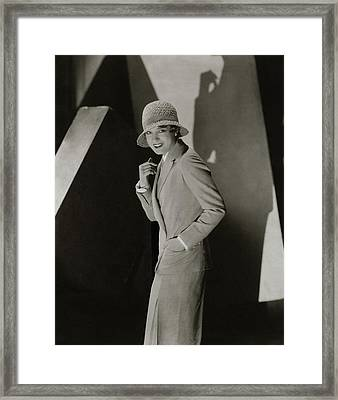 Portrait Of Lili Damita Framed Print
