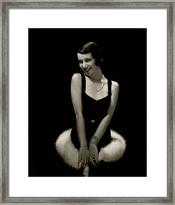 Portrait Of Lily Pons Framed Print