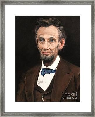 Portrait Of Lincoln Framed Print