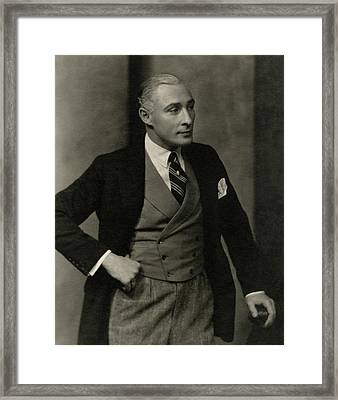 Portrait Of Lionel Atwill In Costume Framed Print