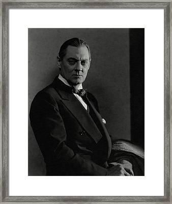 Portrait Of Lionel Barrymore Framed Print by Edward Steichen