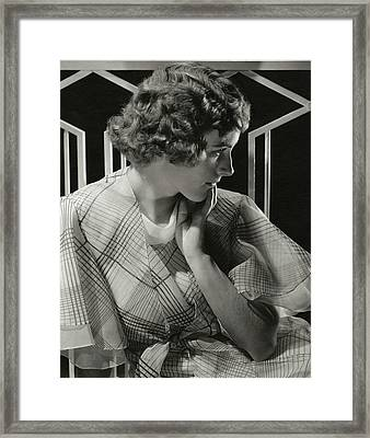 Portrait Of Lois Moran Framed Print
