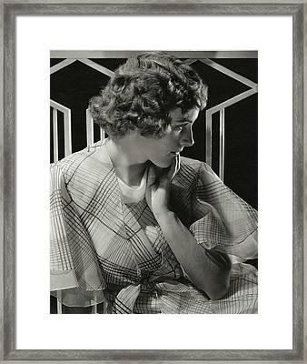 Portrait Of Lois Moran Framed Print by Edward Steichen