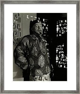 Portrait Of Lon Chaney Framed Print