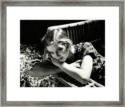 Portrait Of Loretta Young Framed Print by Cecil Beaton