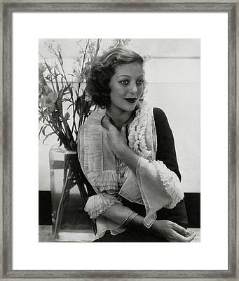 Portrait Of Loretta Young Framed Print by Edward Steichen
