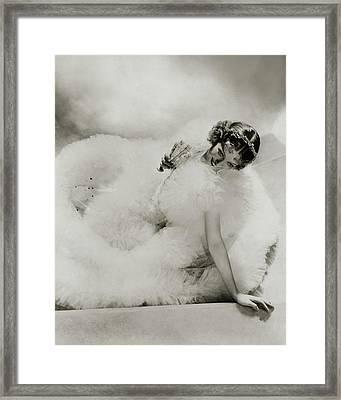 Portrait Of Loretta Young Framed Print