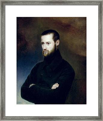 Portrait Of Louis-auguste Blanqui 1805-81 C.1835 Oil On Canvas Framed Print by Madame Blanqui