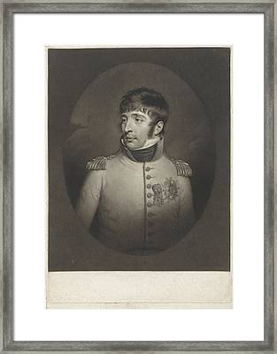 Portrait Of Louis Napoleon Bonaparte Known As Lodewijk Framed Print by Charles Howard Hodges