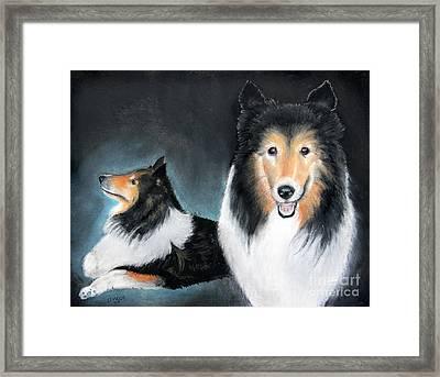 Portrait Of Love By George Wood Framed Print by Karen Adams
