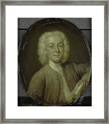 Portrait Of Lucas Pater, Merchant And Poet In Amsterdam Framed Print by Litz Collection