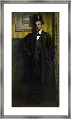 Portrait Of Lucien Simon 1864-1945 1907 Oil On Canvas Framed Print by Charles Cottet