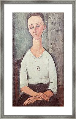 Portrait Of Madame Chakowska, 1917 Oil On Canvas Framed Print