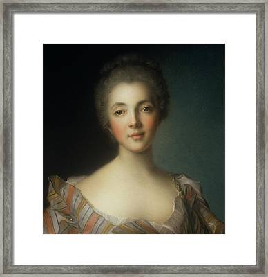 Portrait Of Madame Dupin Framed Print by Jean-Marc Nattier