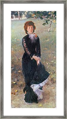 Portrait Of Madame Edouard Pailleron Framed Print