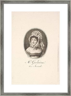 Portrait Of Madame Gavaudan Framed Print