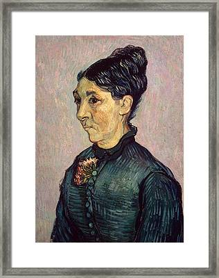 Portrait Of Madame Jeanne Lafuye Trabuc Framed Print by Vincent Van Gogh