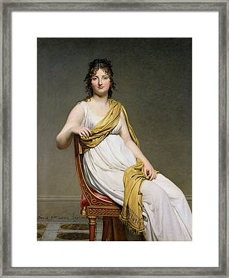 Portrait Of Madame Raymond De Verninac Framed Print by Jacques Louis David