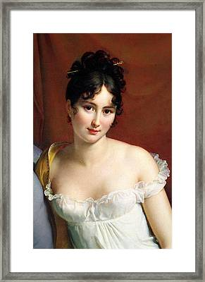 Portrait Of Madame Recamier  Framed Print by Francois Pascal Simon Baron Gerard
