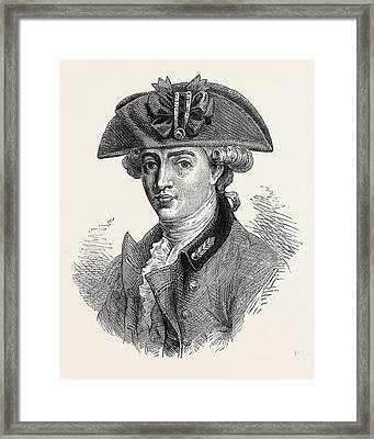 Portrait Of Major Andre He Was A British Army Officer Framed Print by English School
