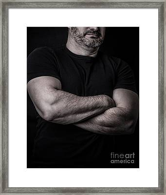 Portrait Of Man Framed Print by Edward Fielding