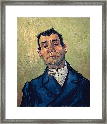 Portrait Of Man Framed Print